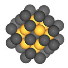 Platin-nanoparticles with 40 atoms. Image: B. Garlyyev (TUM)